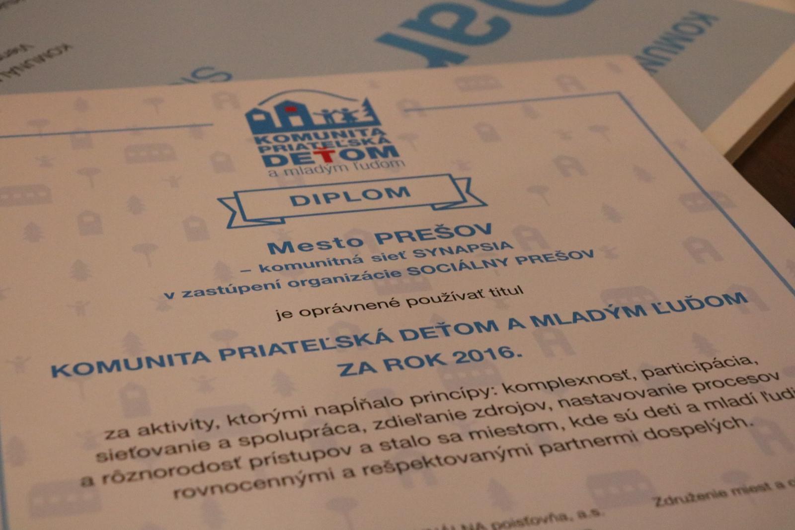 81cc0bf72 Prešov je priateľský k deťom a mladým ľuďom