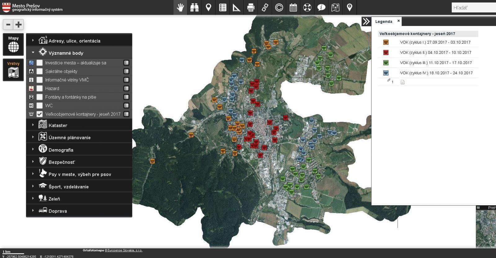 sociálne siete a dátumové údaje lokalít