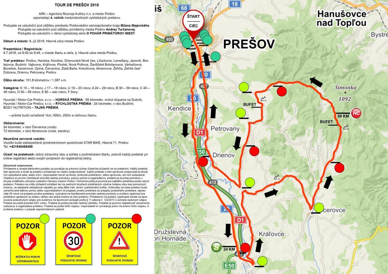 cf14ef367 Štartuje Tour de Prešov 2018, v nedeľu bude Hlavná ulica uzavretá